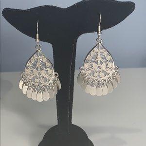 Boho Silver Tone Drop | Dangle Earrings